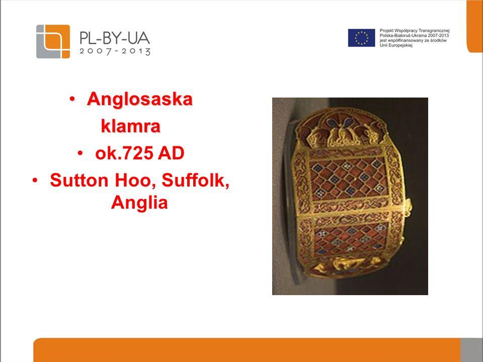 AnglosaskaAnglosaskaklamra ok.725 AD Sutton Hoo, Suffolk, Anglia