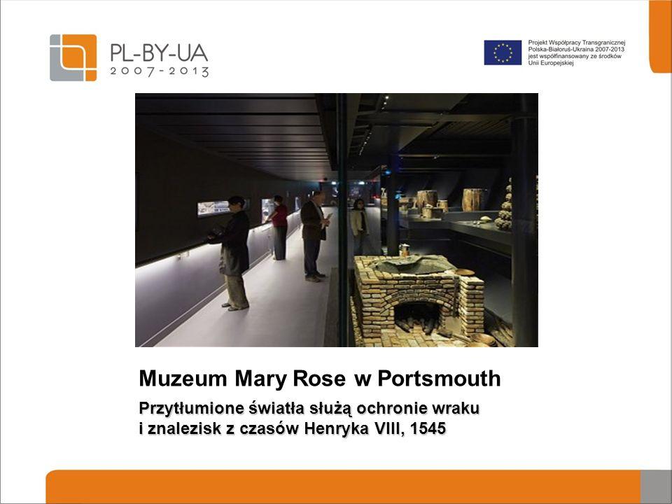 Muzeum Mary Rose w Portsmouth Przytłumione światła służą ochronie wraku i znalezisk z czasów Henryka VIII, 1545