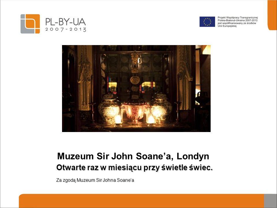 Muzeum Sir John Soane'a, Londyn Otwarte raz w miesiącu przy świetle świec. Za zgodą Muzeum Sir Johna Soane'a