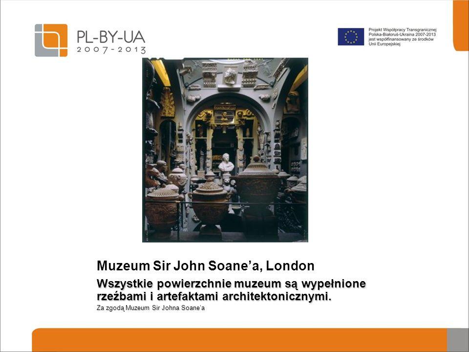 Muzeum Sir John Soane'a, London Wszystkie powierzchnie muzeum są wypełnione rzeźbami i artefaktami architektonicznymi. Za zgodą Muzeum Sir Johna Soane