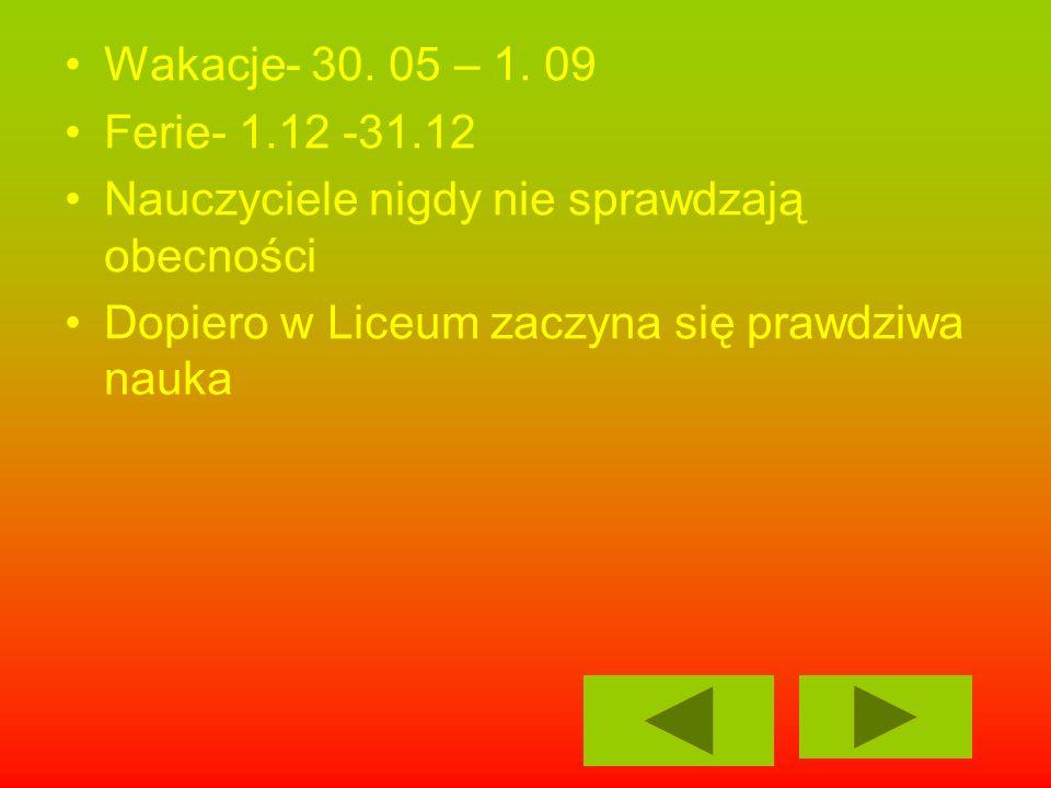 Wakacje- 30. 05 – 1.
