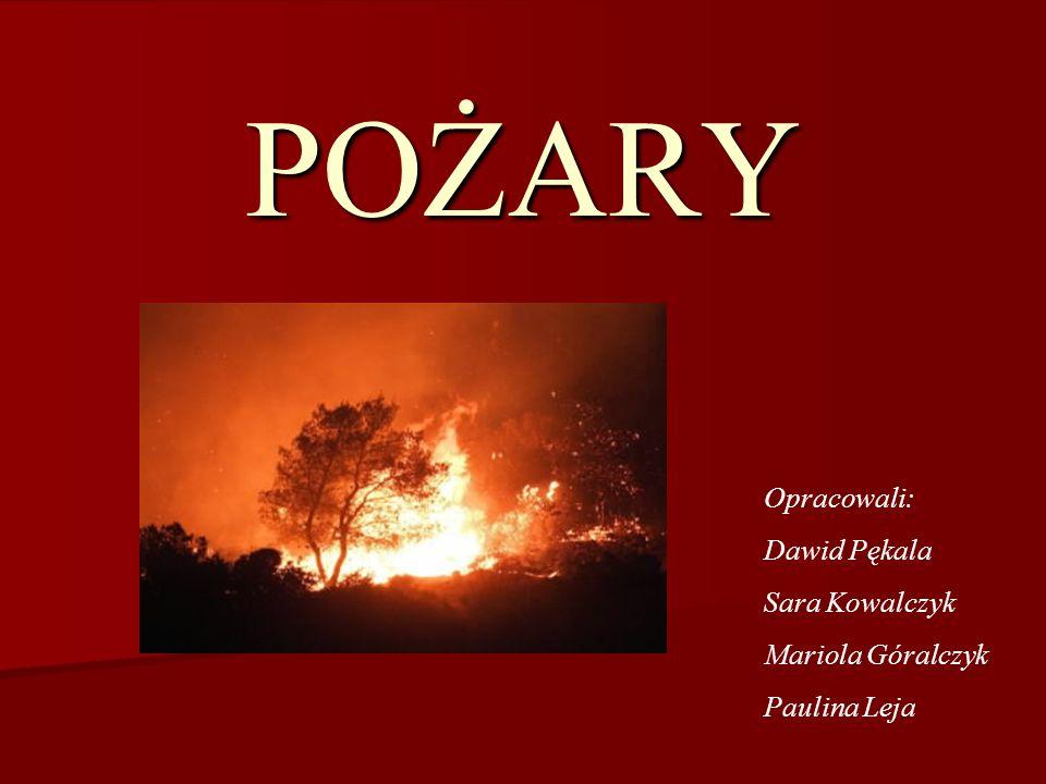 Pożar – niekontrolowany proces spalania w miejscu do tego nieprzeznaczonym.