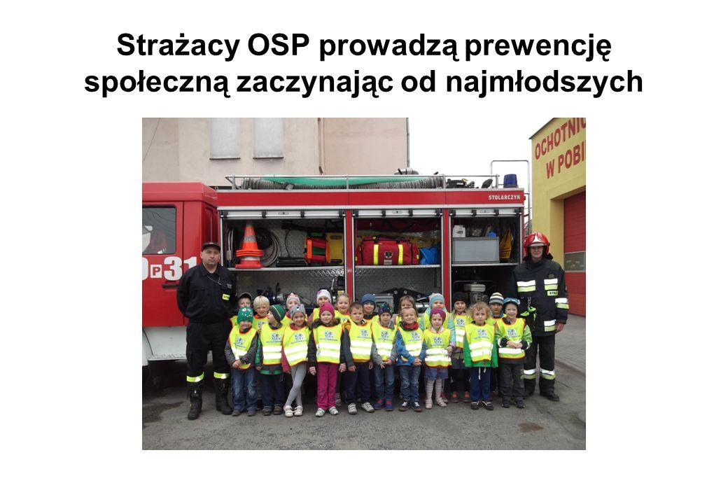 Strażacy OSP prowadzą prewencję społeczną zaczynając od najmłodszych