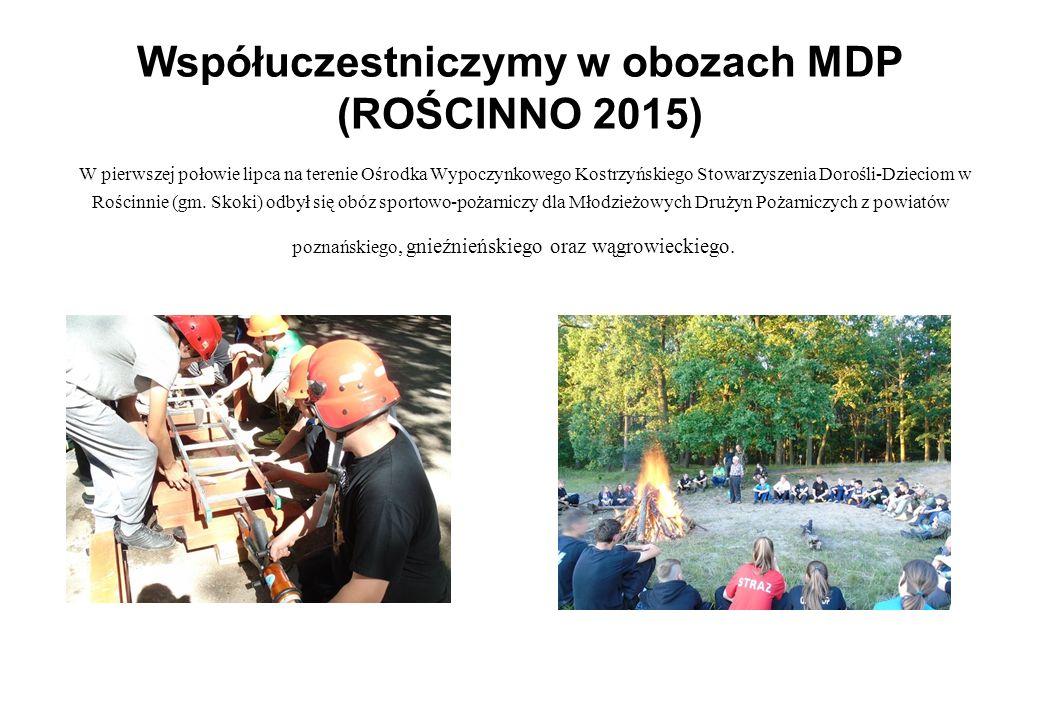 Współuczestniczymy w obozach MDP (ROŚCINNO 2015) W pierwszej połowie lipca na terenie Ośrodka Wypoczynkowego Kostrzyńskiego Stowarzyszenia Dorośli-Dzi