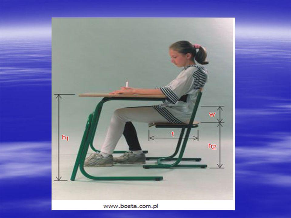 Nieodpowiednie stanowisko pracy ucznia powoduje, nieprawidłowe obciążenie części kręgosłupa i grup mięśni, jest przyczyną zmęczenia ucznia i prowadzi do powstawania wad postawy.