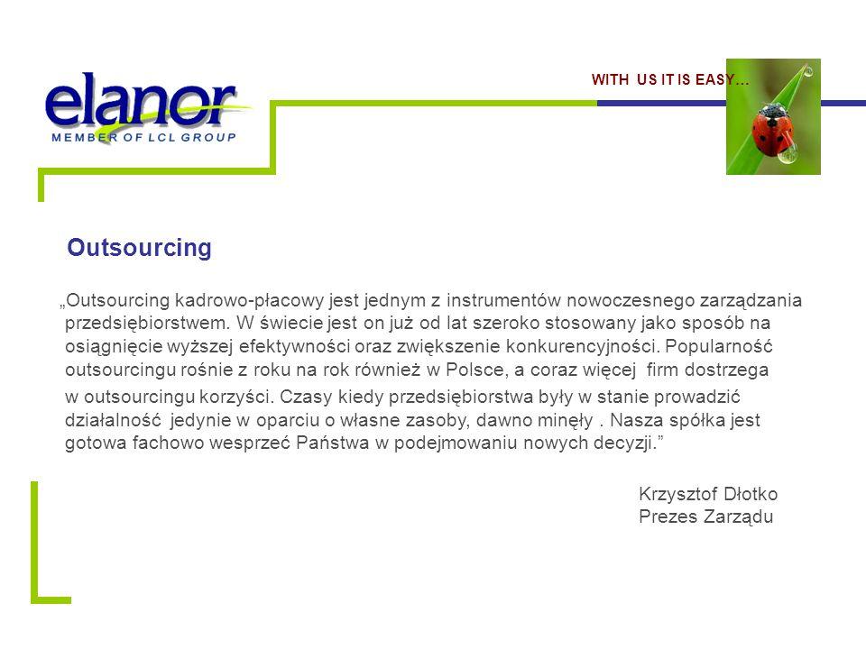 """Outsourcing """"Outsourcing kadrowo-płacowy jest jednym z instrumentów nowoczesnego zarządzania przedsiębiorstwem."""