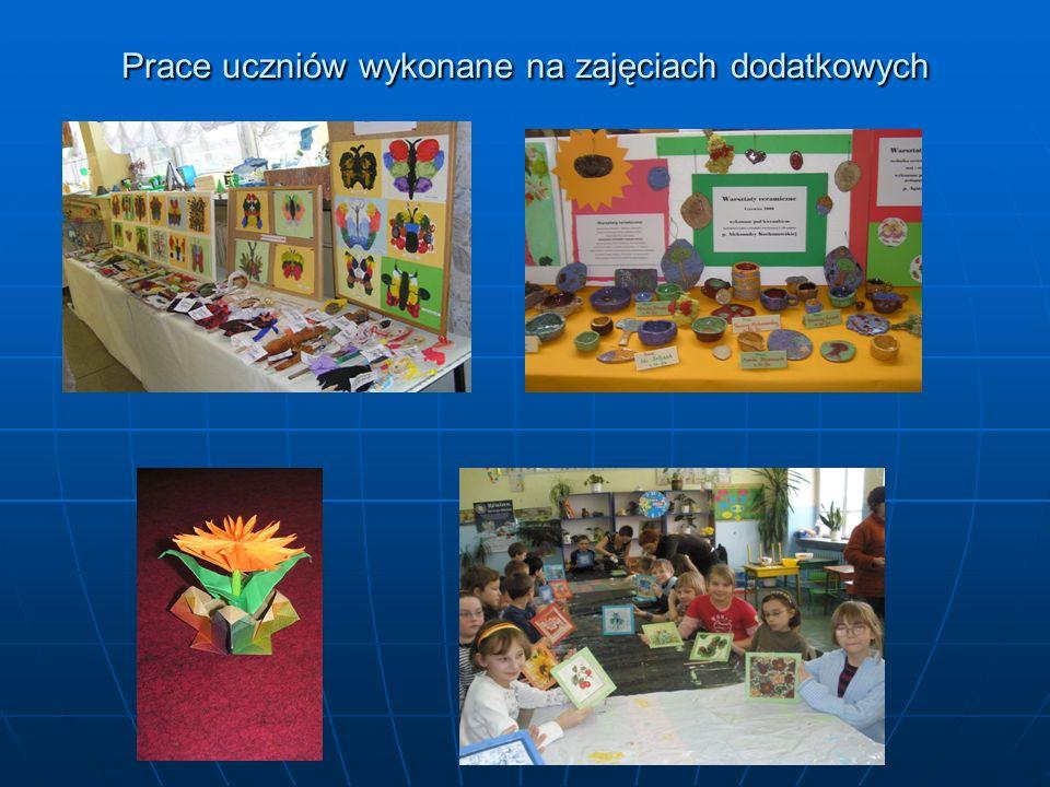 Prace uczniów wykonane na zajęciach dodatkowych