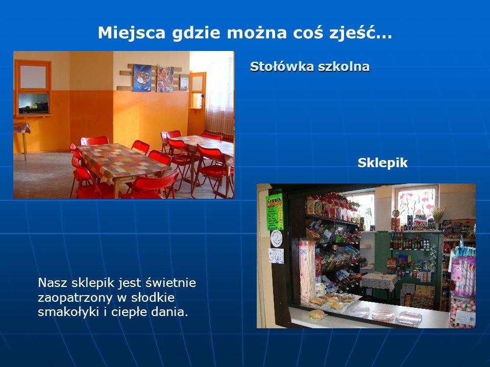 Miejsca gdzie można coś zjeść… Nasz sklepik jest świetnie zaopatrzony w słodkie smakołyki i ciepłe dania.