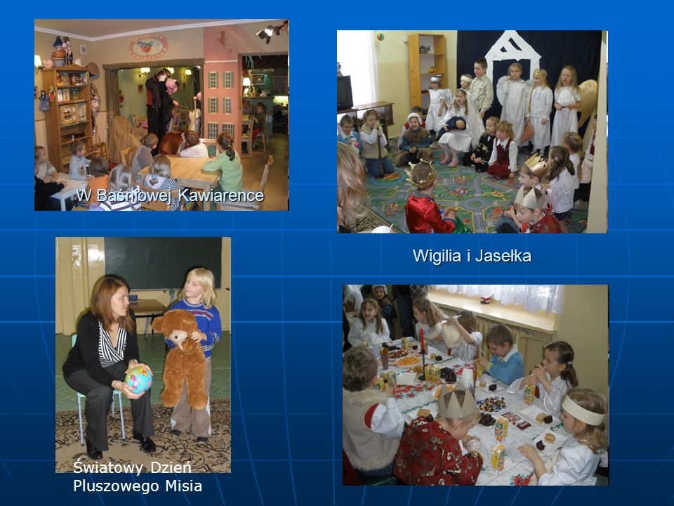 W Baśniowej Kawiarence Światowy Dzień Pluszowego Misia Wigilia i Jasełka