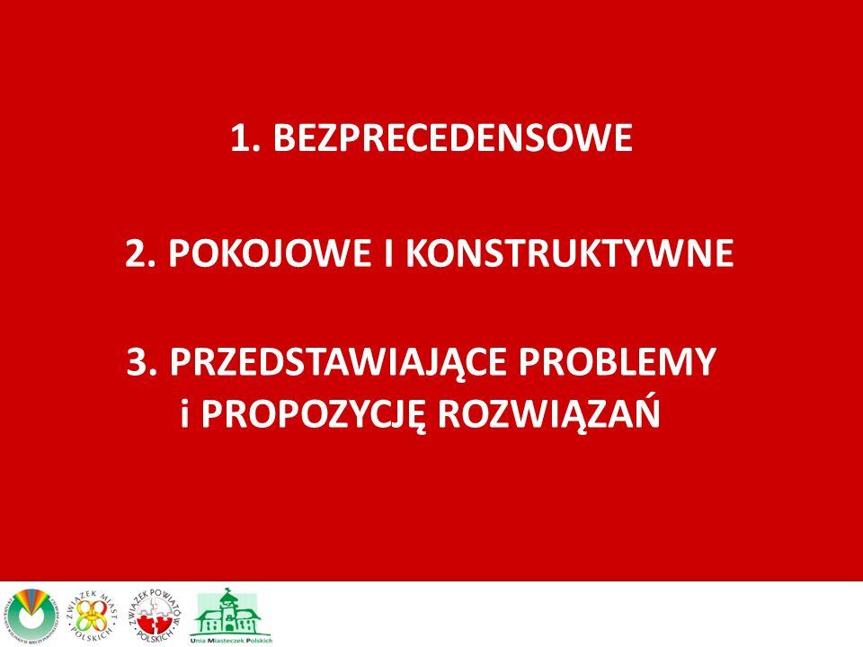 1. BEZPRECEDENSOWE 2. POKOJOWE I KONSTRUKTYWNE 3. PRZEDSTAWIAJĄCE PROBLEMY i PROPOZYCJĘ ROZWIĄZAŃ