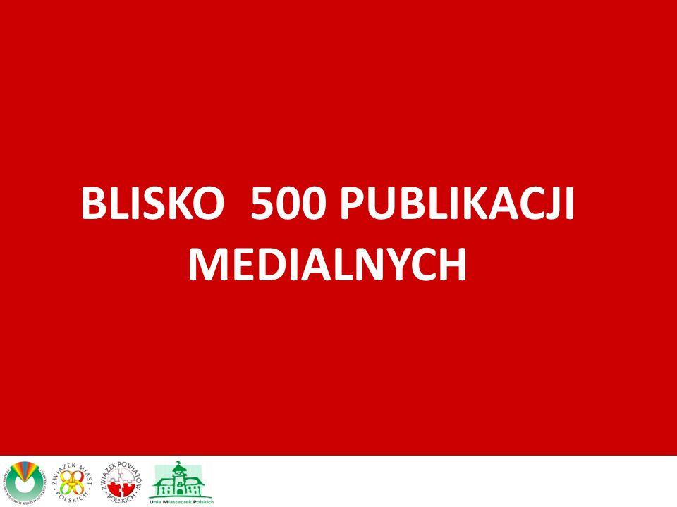 BLISKO 500 PUBLIKACJI MEDIALNYCH