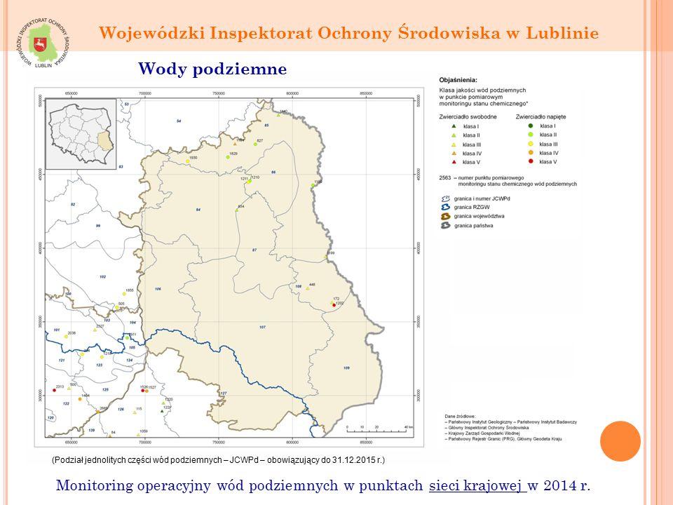 Monitoring operacyjny wód podziemnych w punktach sieci krajowej w 2014 r.