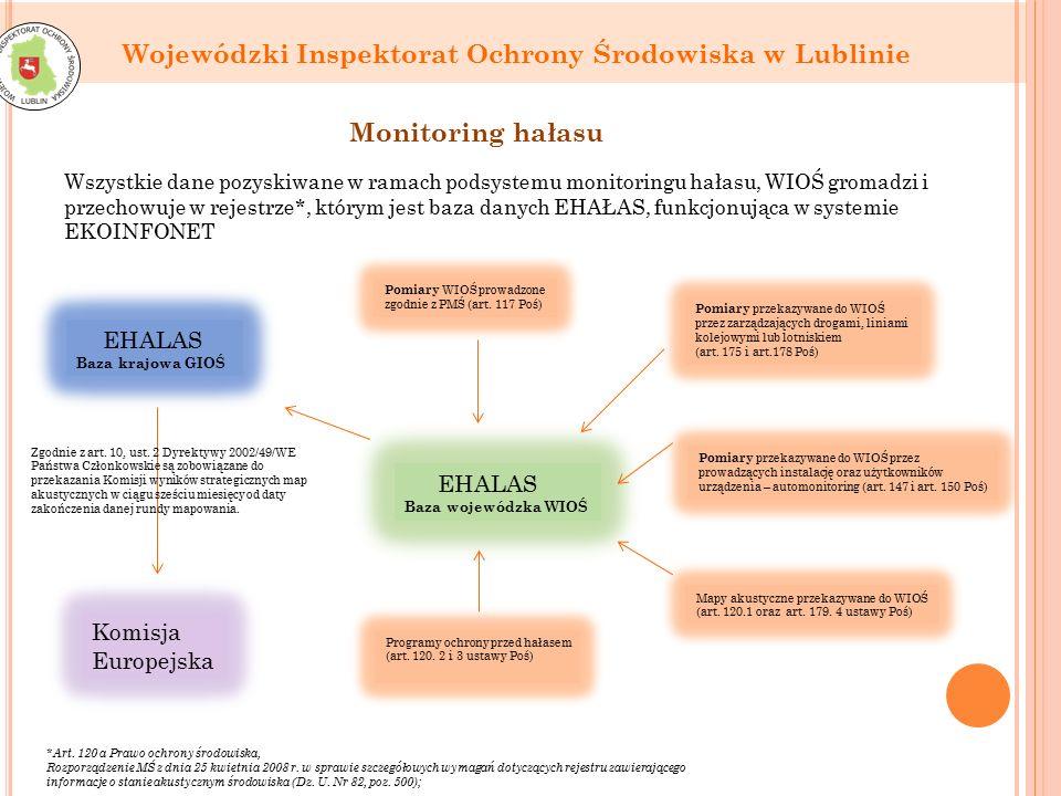 Wojewódzki Inspektorat Ochrony Środowiska w Lublinie Monitoring hałasu *Art.