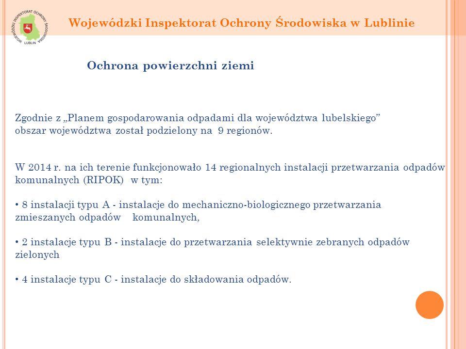 """Zgodnie z """"Planem gospodarowania odpadami dla województwa lubelskiego obszar województwa został podzielony na 9 regionów."""