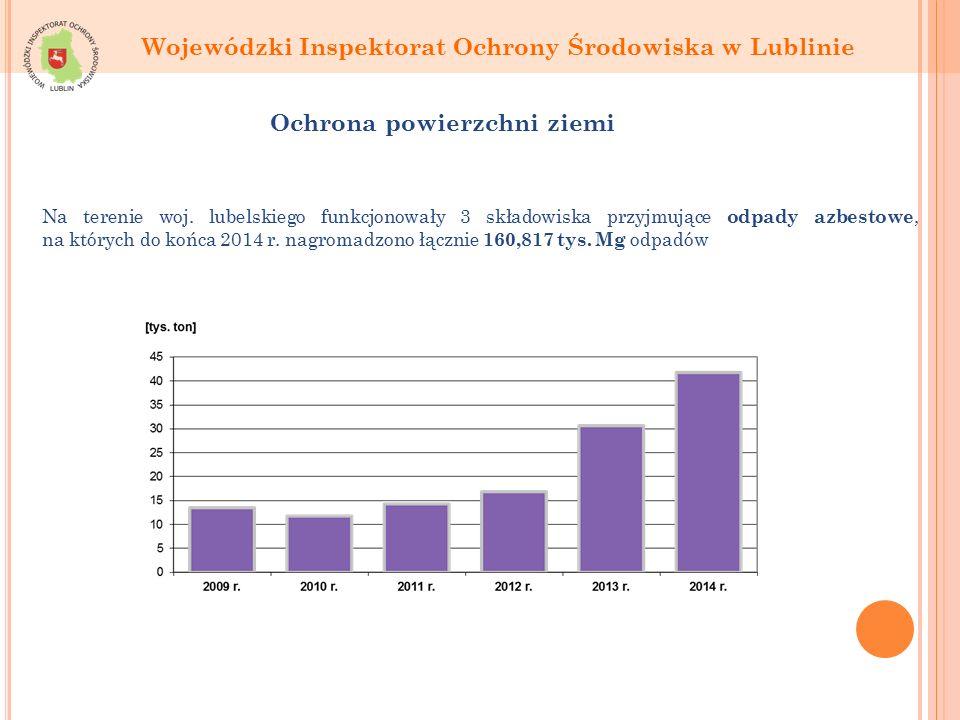 Wojewódzki Inspektorat Ochrony Środowiska w Lublinie Ochrona powierzchni ziemi Na terenie woj.