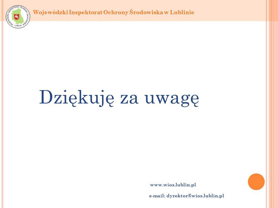 Dziękuję za uwagę www.wios.lublin.pl e-mail: dyrektor@wios.lublin.pl