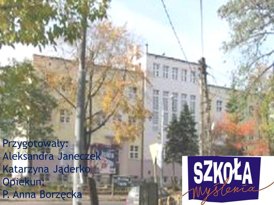 Przygotowały: Aleksandra Janeczek Katarzyna Jąderko Opiekun: P. Anna Borzęcka