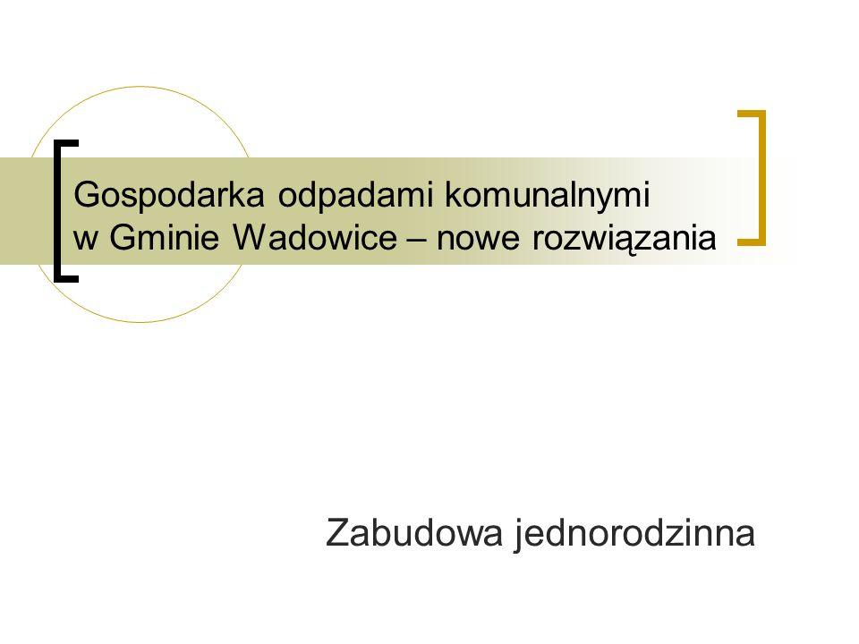 Zabudowa jednorodzinna Gospodarka odpadami komunalnymi w Gminie Wadowice – nowe rozwiązania