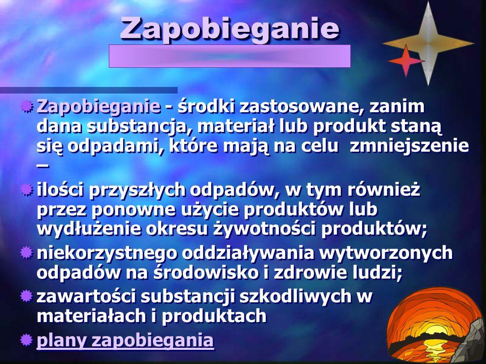 Nowa ustawa o odpadach PROJEKT USTAWY O ODPADACH z dnia 15 marca 2011 r.