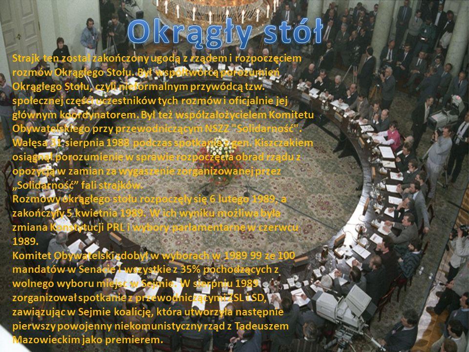 Strajk ten został zakończony ugodą z rządem i rozpoczęciem rozmów Okrągłego Stołu.