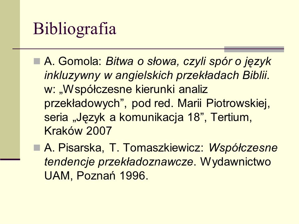 Bibliografia A.