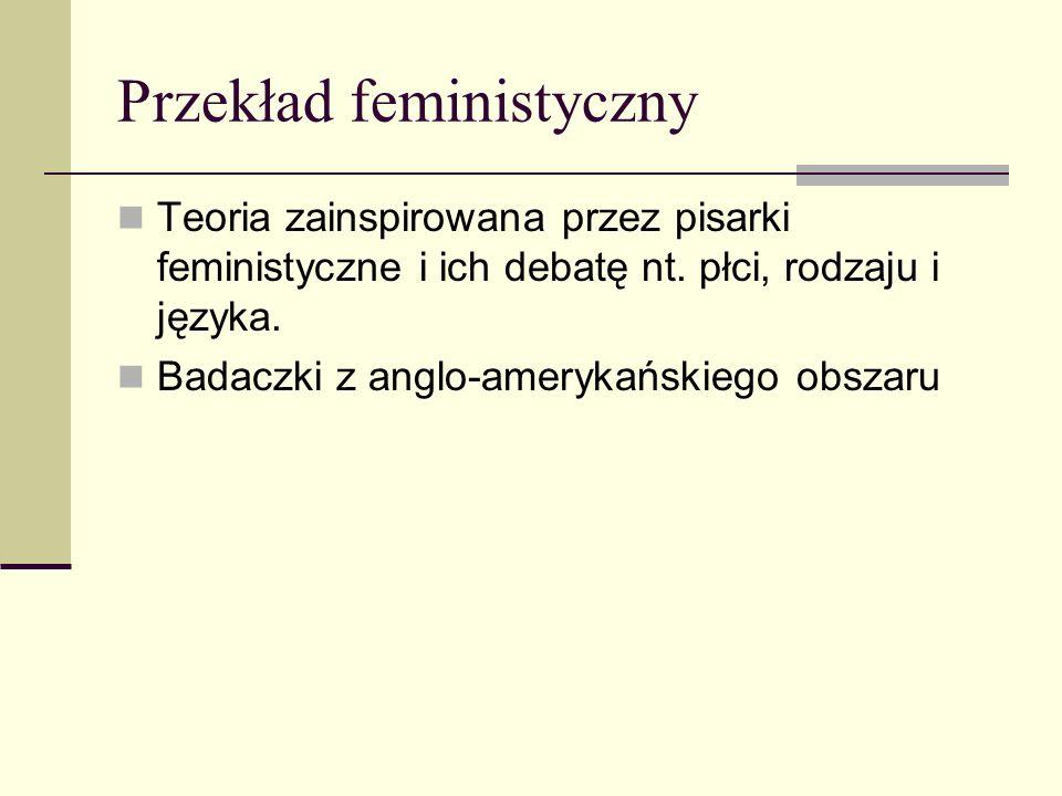 Przekład feministyczny Teoria zainspirowana przez pisarki feministyczne i ich debatę nt.