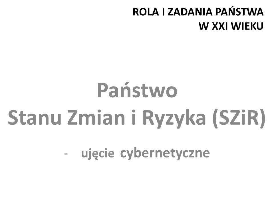 ROLA I ZADANIA PAŃSTWA W XXI WIEKU Państwo Stanu Zmian i Ryzyka (SZiR) -ujęcie cybernetyczne