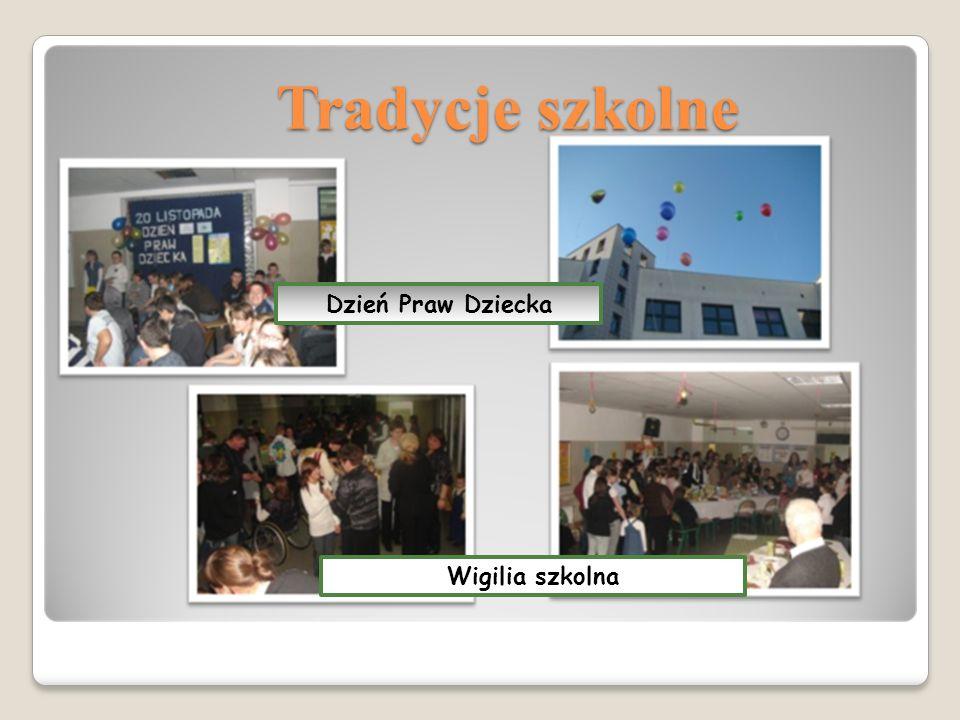 Tradycje szkolne Dzień Praw Dziecka Wigilia szkolna