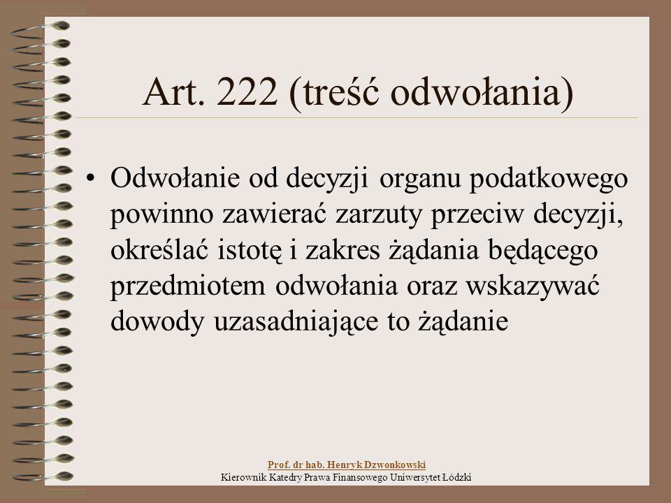 Art.228 (niedopuszczalność odwołania) § 1.