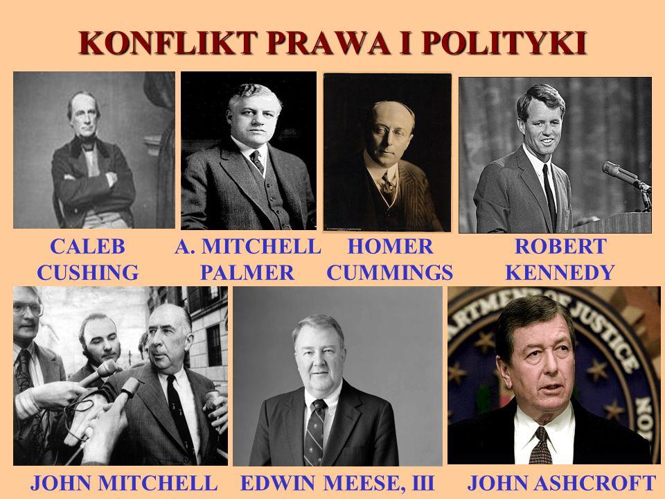 KONFLIKT PRAWA I POLITYKI JOHN MITCHELL CALEB CUSHING EDWIN MEESE, III HOMER CUMMINGS ROBERT KENNEDY JOHN ASHCROFT A.