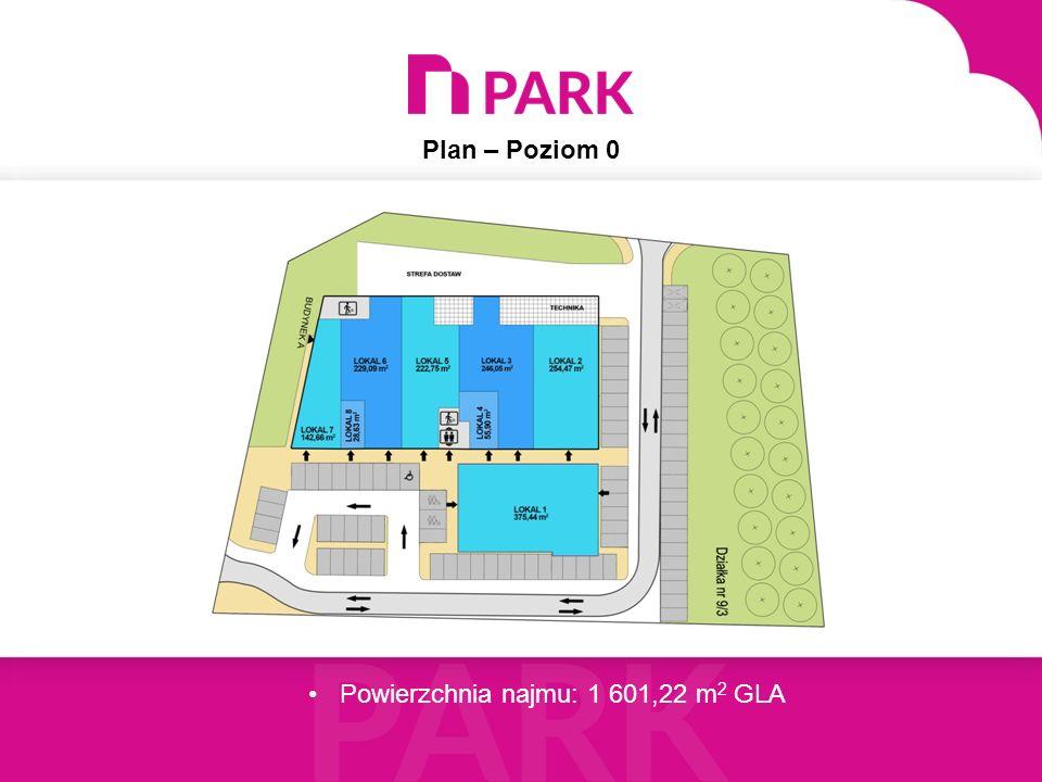 Plan – Poziom 1 Powierzchnia najmu: 1 037,90 m 2 GLA