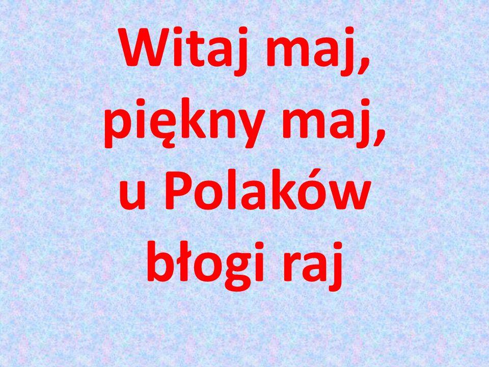 Witaj maj, piękny maj, u Polaków błogi raj