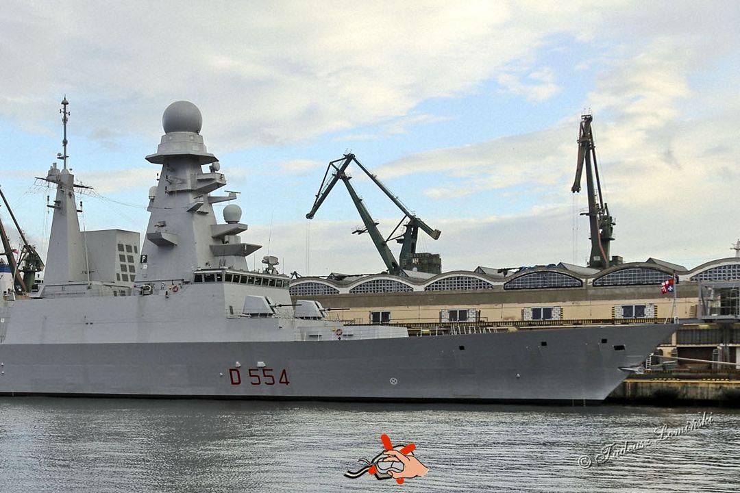 Niszczyciel rakietowy włoskiej Marina Militare