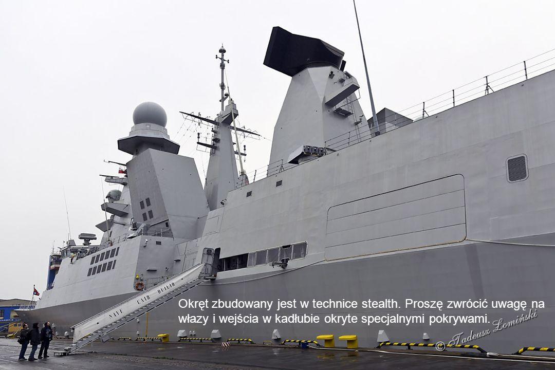 Okręt zbudowany jest w technice stealth.