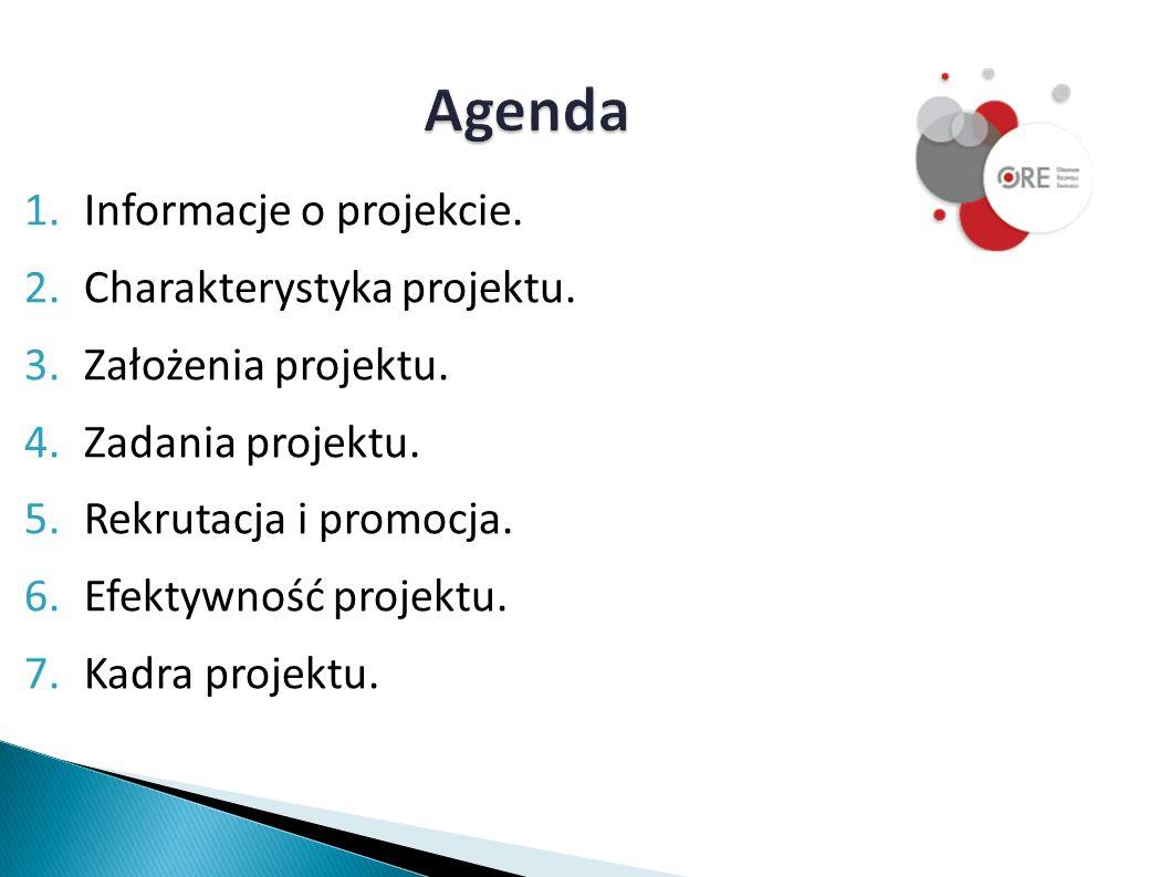 Agenda 1.Informacje o projekcie. 2.Charakterystyka projektu.