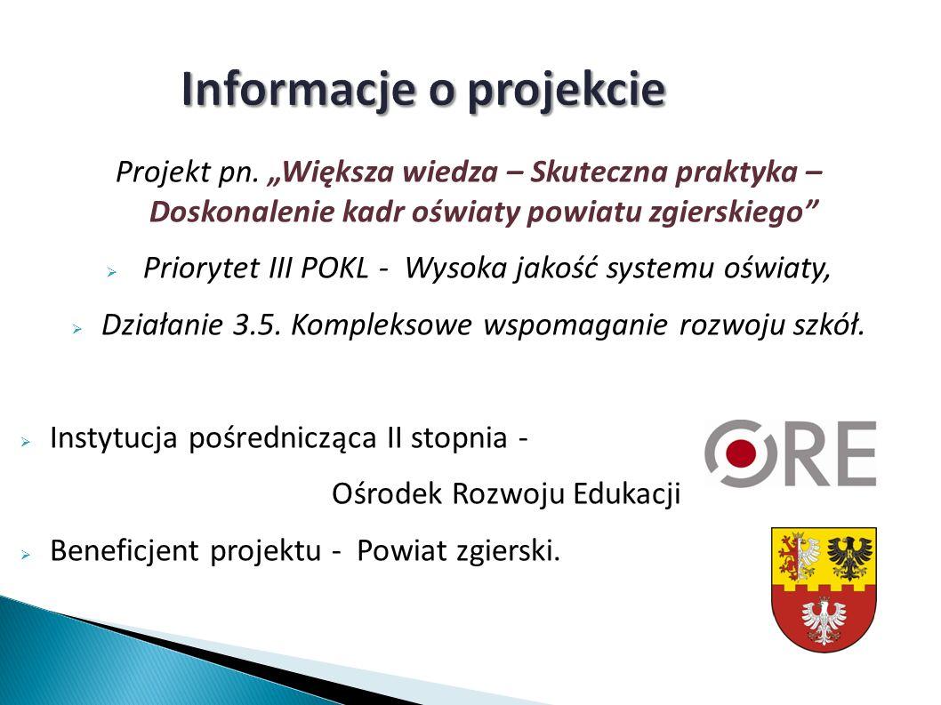 Informacje o projekcie Projekt pn.