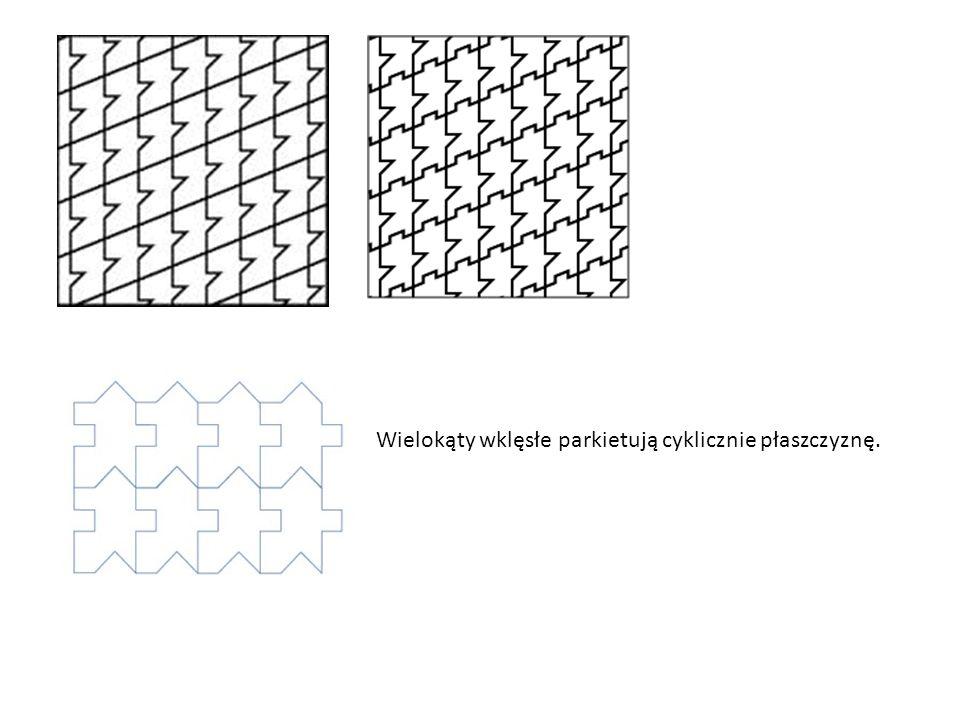 Wielokąty wklęsłe parkietują cyklicznie płaszczyznę.