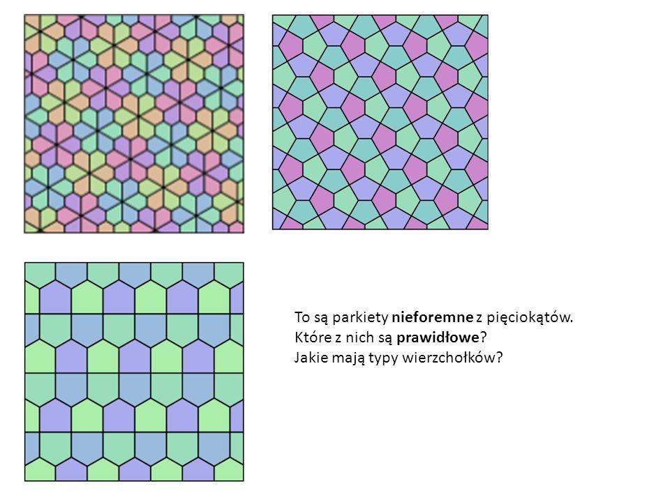 Każdy trójkąt parkietuje płaszczyznę. Każdy czworokąt parkietuje płaszczyznę.