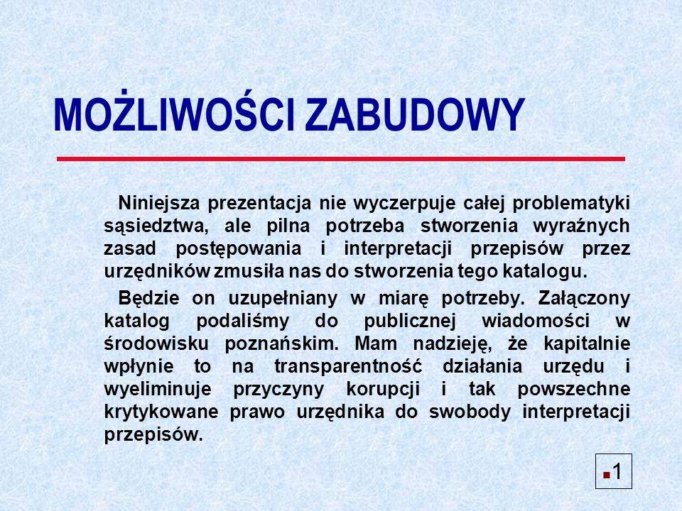 Ustalenie sąsiedztwa w oparciu o kontynuację linii zabudowy n 12