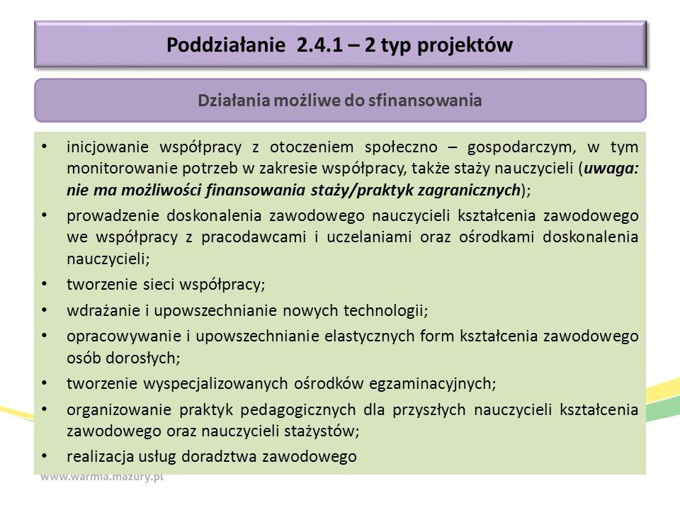 inicjowanie współpracy z otoczeniem społeczno – gospodarczym, w tym monitorowanie potrzeb w zakresie współpracy, także staży nauczycieli (uwaga: nie m