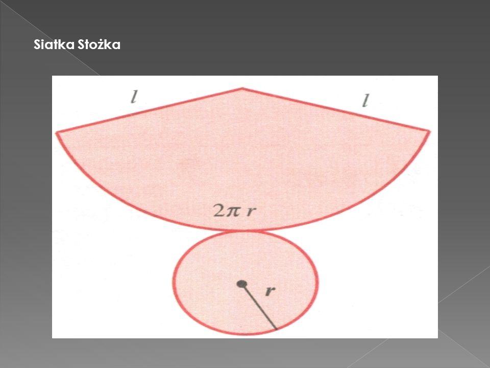 Powyższy stożek powstał przez obrót trójkąta prostokątnego SBC wokół prostej SC. Przekrojem osiowym stożka jest trójkąt równoramienny ABC. Podstawą st