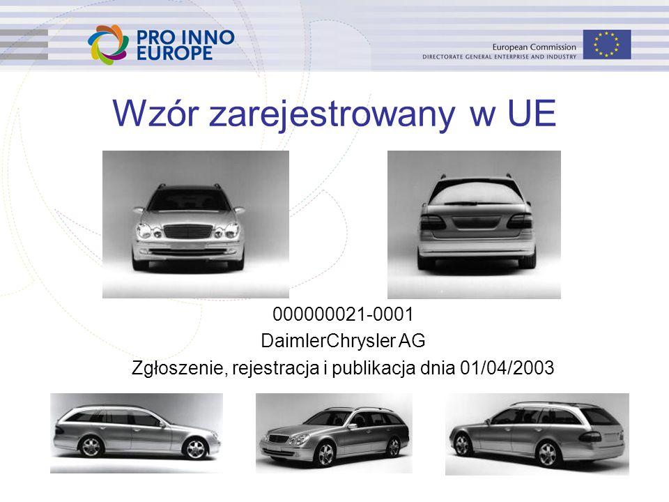 48 Wzór zarejestrowany w UE 000000021-0001 DaimlerChrysler AG Zgłoszenie, rejestracja i publikacja dnia 01/04/2003