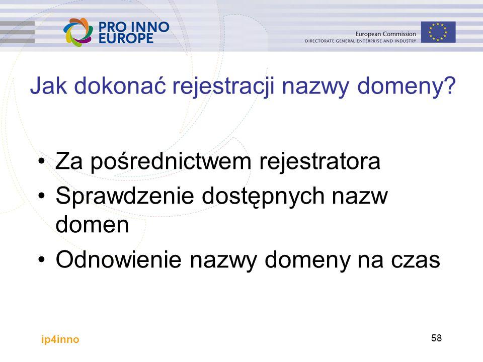 ip4inno 58 Jak dokonać rejestracji nazwy domeny.