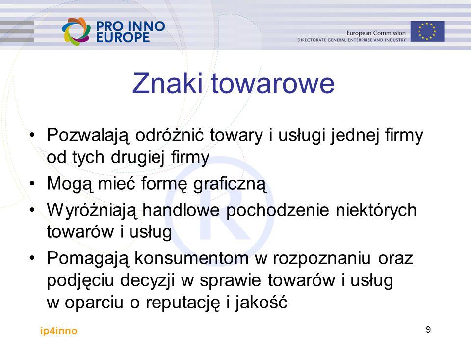 ip4inno 70 Przydatne linki http://euipo.europa.eu/ (EUIPO)http://euipo.europa.eu/ http://www.wipo.int/portal/index.html.en (WIPO)http://www.wipo.int/portal/index.html.en http://arbiter.wipo.int/domains/index.html (WIPO Domain Name Dispute Resolution Service)http://arbiter.wipo.int/domains/index.html http://www.ipr-helpdesk.org/index.html (IPR Helpdesk)http://www.ipr-helpdesk.org/index.html http://ec.europa.eu/agriculture/foodqual/quali1_en.htm (European Commission - Agriculture and Food)http://ec.europa.eu/agriculture/foodqual/quali1_en.htm
