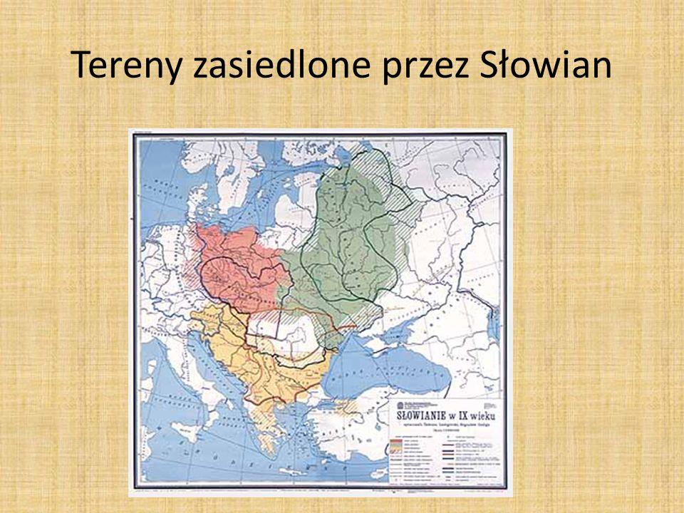 Tereny zasiedlone przez Słowian