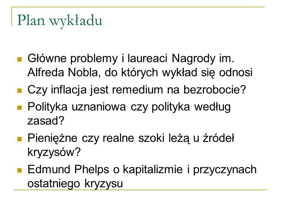 Plan wykładu Główne problemy i laureaci Nagrody im.