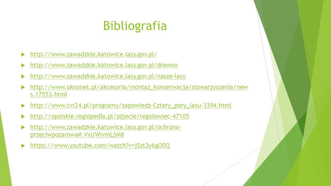 Bibliografia  http://www.zawadzkie.katowice.lasy.gov.pl/ http://www.zawadzkie.katowice.lasy.gov.pl/  http://www.zawadzkie.katowice.lasy.gov.pl/drewn