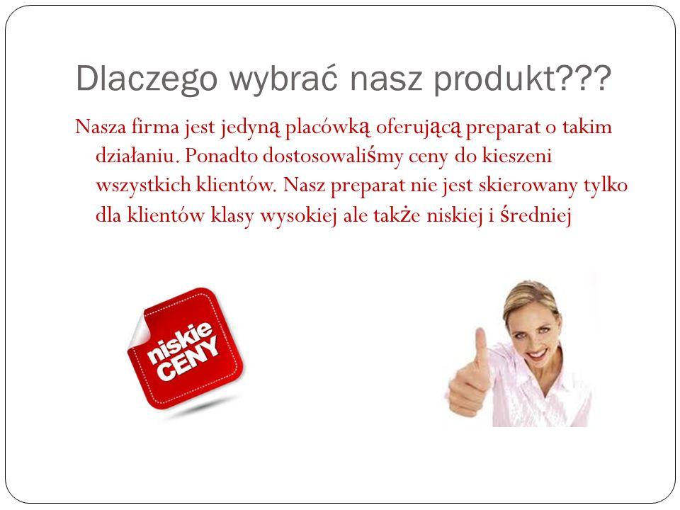 Dlaczego wybrać nasz produkt .