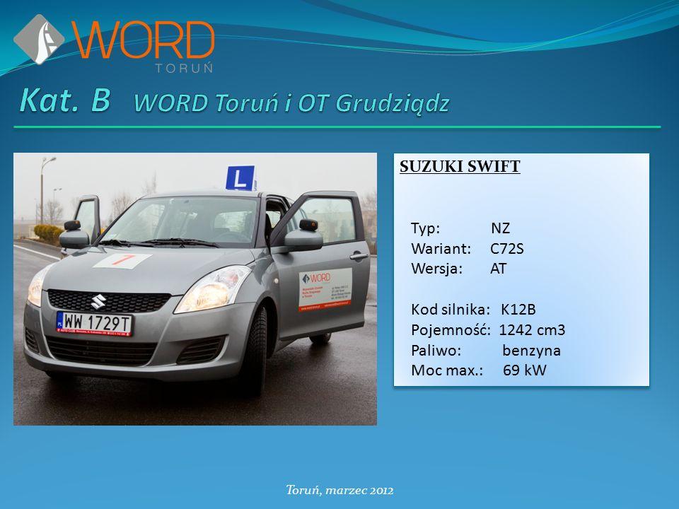 SUZUKI SWIFT Typ: NZ Wariant: C72S Wersja: AT Kod silnika: K12B Pojemność: 1242 cm3 Paliwo: benzyna Moc max.: 69 kW SUZUKI SWIFT Typ: NZ Wariant: C72S Wersja: AT Kod silnika: K12B Pojemność: 1242 cm3 Paliwo: benzyna Moc max.: 69 kW