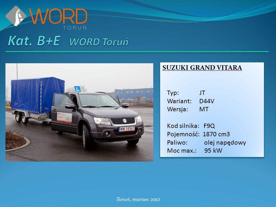 Toruń, marzec 2012 OPEL VIVARO Typ: X83 Wariant: CB11 Kod silnika: F9Q U762 Pojemność: 1870 cm3 Paliwo: olej napędowy OPEL VIVARO Typ: X83 Wariant: CB11 Kod silnika: F9Q U762 Pojemność: 1870 cm3 Paliwo: olej napędowy